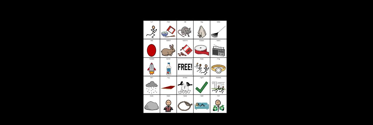 R Initial Position - Articulation Bingo