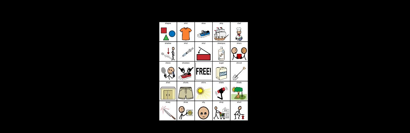 Sh Initial Position- Articulation Bingo