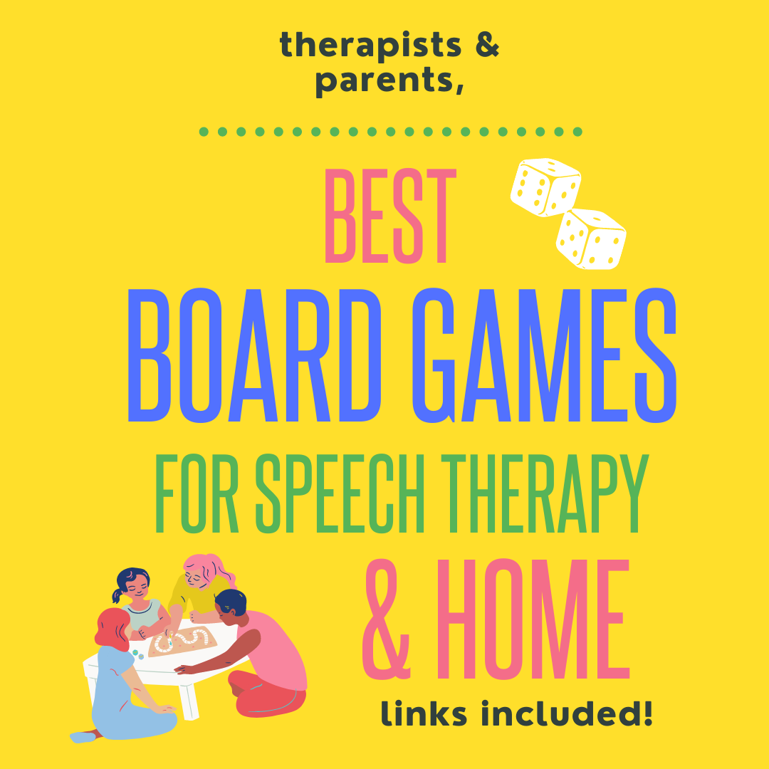 Best Board Games for Speech Therapy (and home)