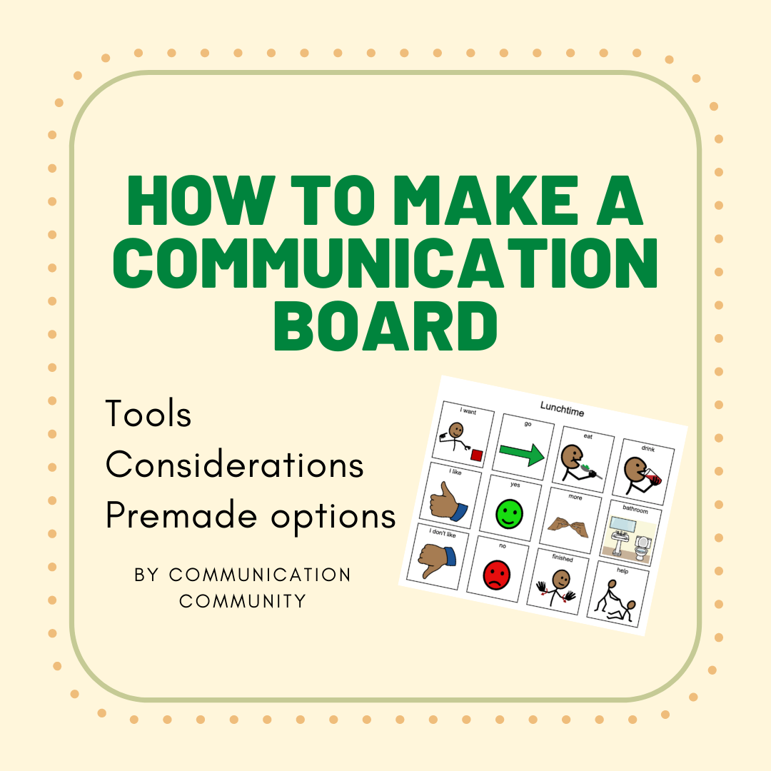 How to Make a Communication Board