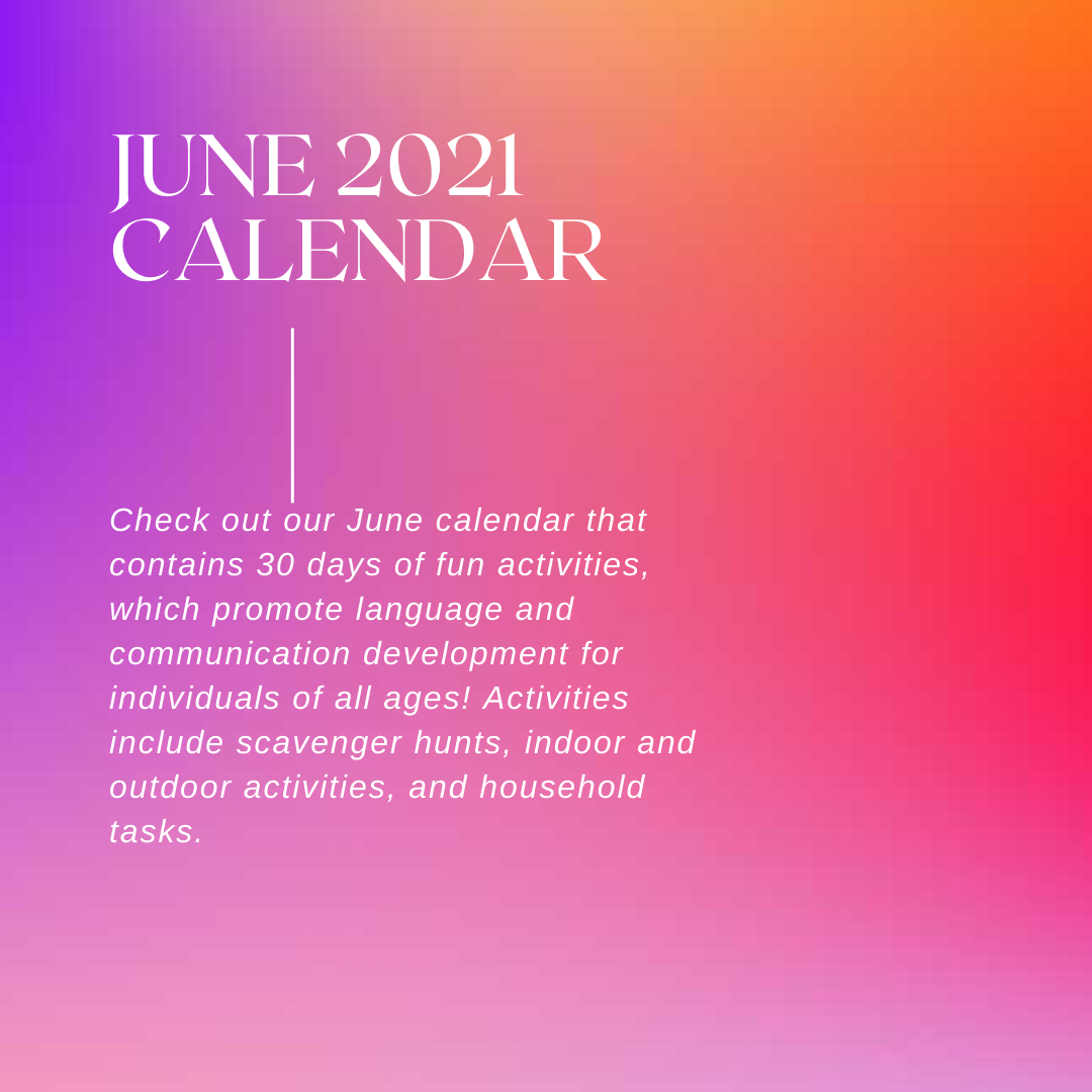 June Calendar Activities (2021)
