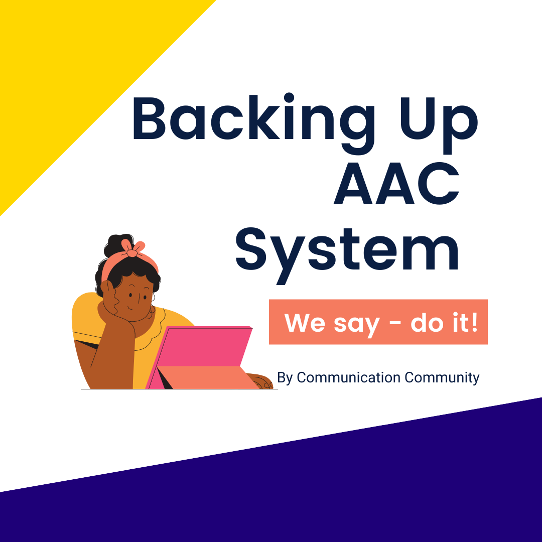 Backing up AAC System - Do it!